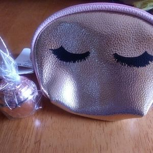 Make-up pouch and rose lip balm